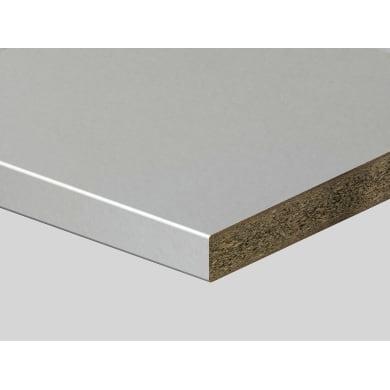 Piano di lavoro in truciolato laminato bianco primavera L 200 x P 60 cm, spessore 3.9 cm