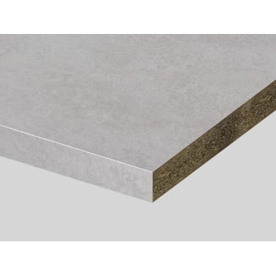 Piano di lavoro in truciolato laminato deserto bianco L 250 x P 60 cm, spessore 3.9 cm