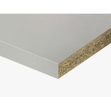 Piano di lavoro in truciolato laminato bianco losa L 200 x P 60 cm, spessore 3.9 cm