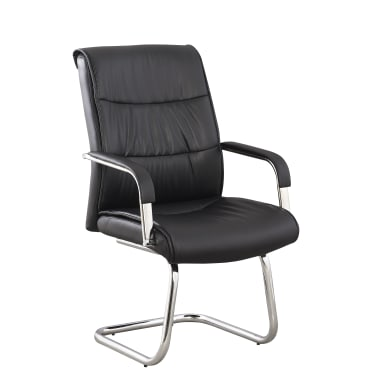 Sedia da ufficio con braccioli Attesa nero