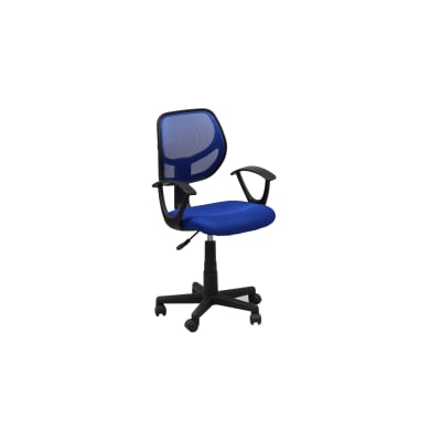 Sedia da ufficio con braccioli Astra blu
