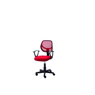 Sedia da ufficio con braccioli Astra rosso