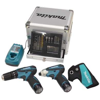 Set di elettroutensili a batteria MAKITA DK1493X1 10.8 V, 1.3 Ah, 2 batterie