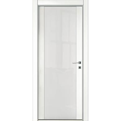 Porta a battente Oxford Vetrata neve L 80 x H 210 cm reversibile