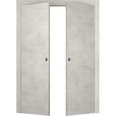 Porta per armadio Beton cemento L 140 x H 210 cm apertura a destra e sinistra
