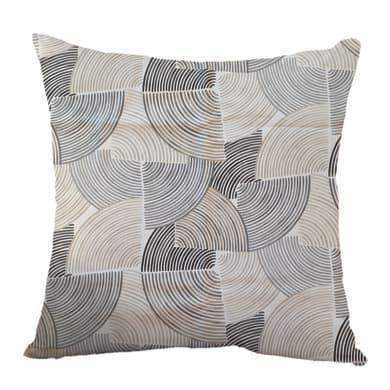 Fodera per cuscino Vortex grigio 60x60 cm