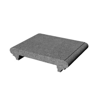 Blocco in calcestruzzo 22 cm, Sp 4 cm, grigio / argento