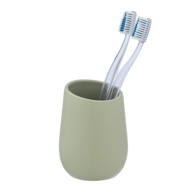 Bicchiere porta spazzolini Badi bicchiere p/spazz. ceramica verdino in ceramica verde pistacchio