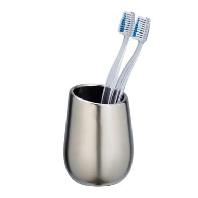 Bicchiere porta spazzolini Badi bicchiere p/spazz. ceramica cro.op. in ceramica cromo opaco