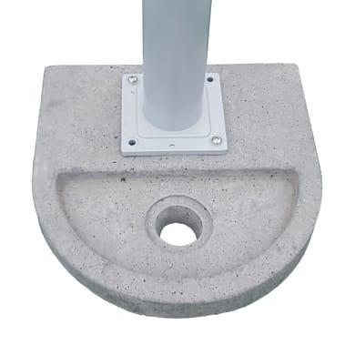 Fontana a parete BASE TONDA in cemento H 6 cm, 37 x 37 cm