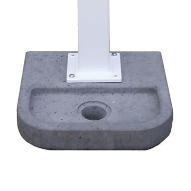 Fontana a parete BASE QUADRA in cemento H 6 cm, 37 x 37 cm
