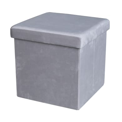 Pouf grigio / argento 35 x 35cm