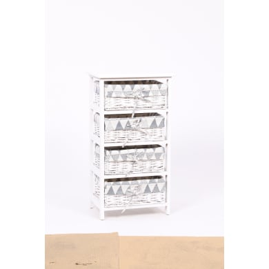 Cassettiera Agua 3 cassetti L 40 x P 57 x H 29 cm bianco