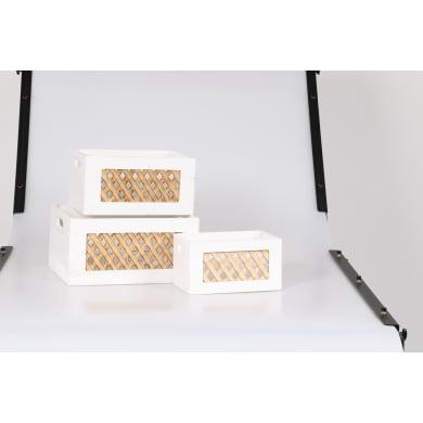 Cassettiera Xena L 72 x P 36 x H 27 cm bianco