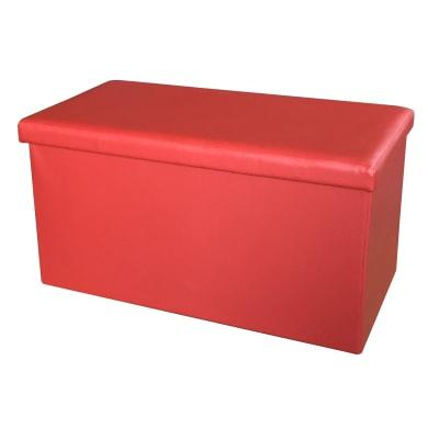 Baule L 77 x H 5 x P 40 cm Rosso