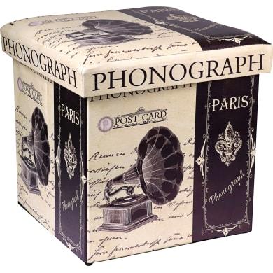 Pouf Phonograph multicolore 36 x 36cm