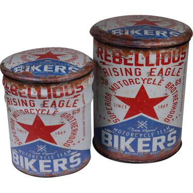 Pouf Bikers multicolore 45 x 37cm