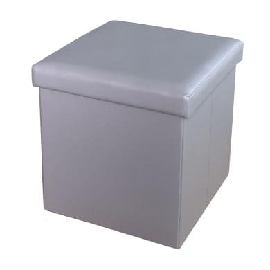 Pouf grigio / argento
