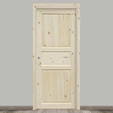 Porta scorrevole a scomparsa Acul naturale L 90 x H 210 cm reversibile
