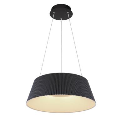 Lampadario Moderno Crotone LED integrato nero, in acrilico