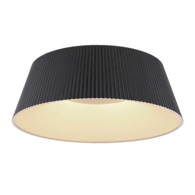 Plafoniera Crotone LED integrato nero, in acrilico,