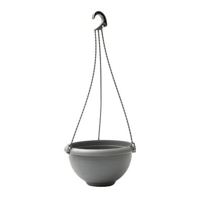 Vaso in polipropilene Terrae Basket con gancio universale H 18.5 cm Ø 34 cm