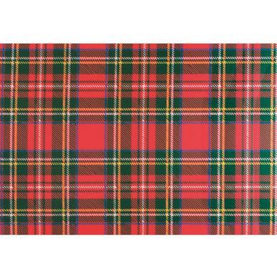 Passatoia Digital in poliestere, rosso e verde, 52x100