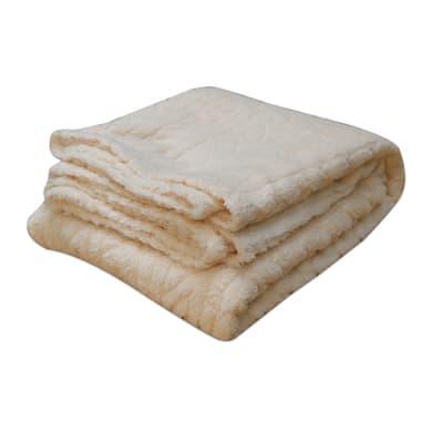 Plaid in 100% poliestere Softy, bianco, 125x 150 cm