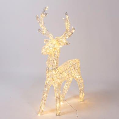 Renna 200 lampadine bianco caldo H 95 cm