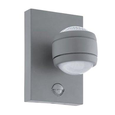Applique Sesimba LED integrato  in acciaio inox, grigio, 3.7W 560LM IP44 EGLO