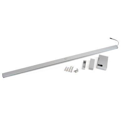 Kit barra del guardaroba e supporti grigio / argento