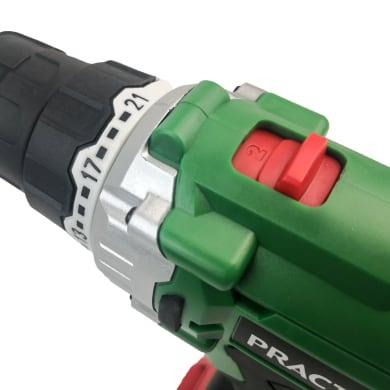 Trapano avvitatore a batteria PRACTYL 18 V, 2 Ah, 1 batteria