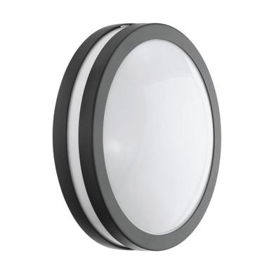 Plafoniera Locana C LED integrato in acciaio galvanizzato, antracite, 14W 1400LM IP44 EGLO