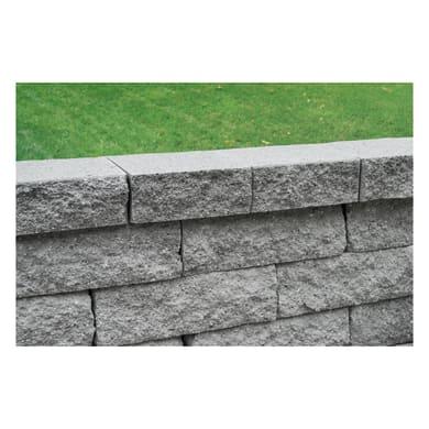 Copertina in cemento Tango 18.75 cm, Sp 33 cm, grigio / argento