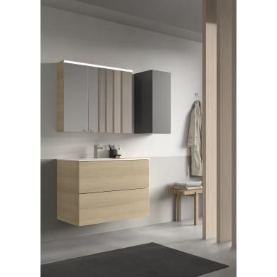 Set mobile da bagno con lavabo Neo3 betulla naturale L 90 cm