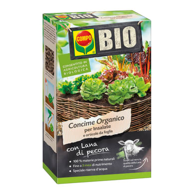 Concime organico granulare COMPO Bio per insalate 750 Gr