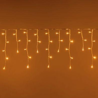 Tenda luminosa 120 lampadine led bianco caldo H 100 x L 200 cm