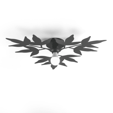Plafoniera classico Birdie bianco, in vetro, 2  luci