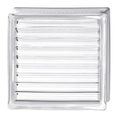 Vetromattone BORMIOLI Pure trasparente incrociato H 19 x L 19 x Sp 8 cm 6 pezzi