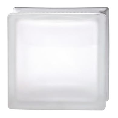 Vetromattone BORMIOLI trasparente satinato H 24 x L 24 x Sp 8 cm 4 pezzi