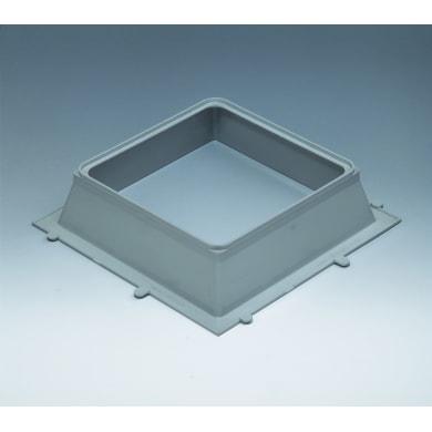 Vetromattone grigio opaco H 6 x L 23 x Sp 23 cm 10 pezzi