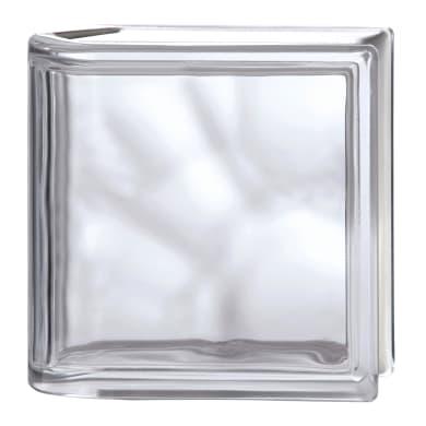 Vetromattone BORMIOLI Pure trasparente liscio H 19 x L 19 x Sp 8 cm 6 pezzi