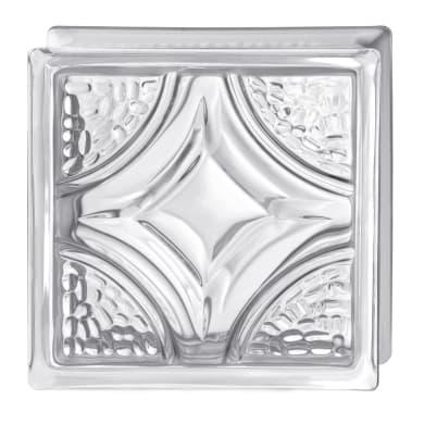 Vetromattone BORMIOLI Rombo trasparente intrecciato H 19 x L 19 x Sp 8 cm 6 pezzi