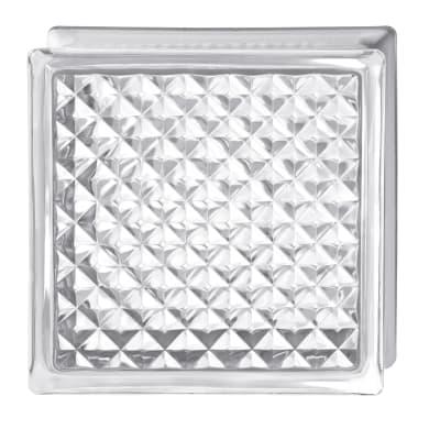 Vetromattone BORMIOLI Intrecciato trasparente incrociato H 19 x L 19 x Sp 8 cm 6 pezzi