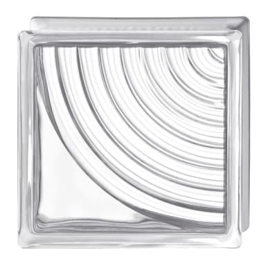 Vetromattone BORMIOLI Ventaglio trasparente ondulato H 19 x L 19 x Sp 8 cm 6 pezzi