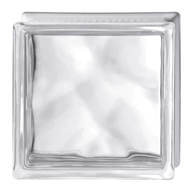 Vetromattone BORMIOLI Pure trasparente ondulato H 19 x L 19 x Sp 8 cm 6 pezzi