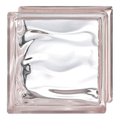 Vetromattone BORMIOLI rosa ondulato H 19 x L 19 x Sp 8 cm 6 pezzi