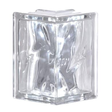 Vetromattone BORMIOLI Pure trasparente ondulato H 19 x L 19 x Sp 8 cm 4 pezzi