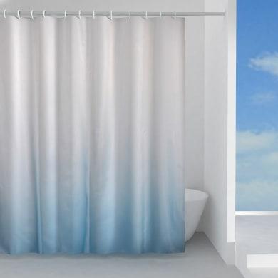 Tenda doccia Cielo in poliestere celeste L 120 x H 200 cm