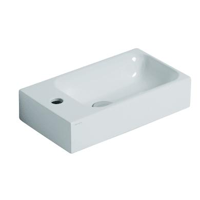Lavabo sospeso rettangolare Cento L 45 x H 10 x P 25 cm